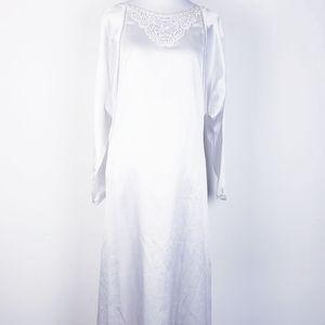 Juli of Slumberland Vintage White Satin Nightgown…